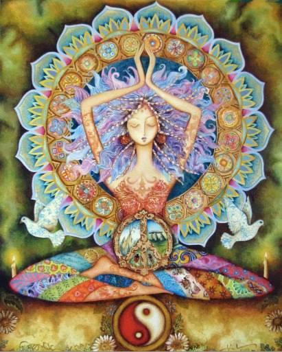 linda meditando sobre o amor
