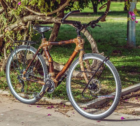 Bamboo bike by Artbikebamboo, unique handcrafted bicycle, bicicleta de bambu