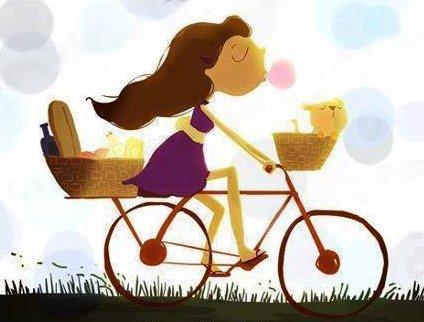 pedalando bem feliz