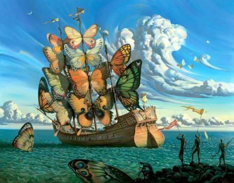 borboletas gigantes Salvador Dali