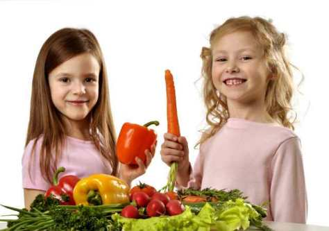vegetarianas crianças