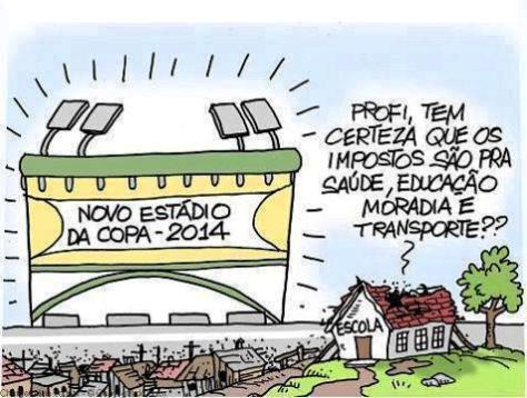 novo estádio para copa, e as escolas?