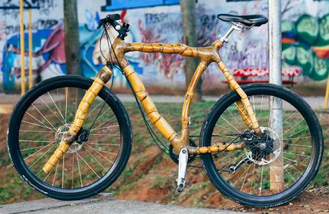 Bamboo bike hand made for cycle touring, road races and urban use by ArtBikeBamboo