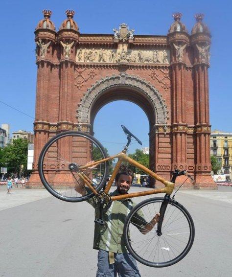 bicicleta de bambu em barcelona, bamboo bike, bicicleta personalizada, alta performance, ciclismo competição, bike fixa