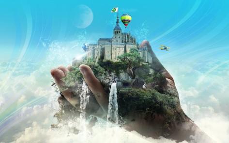 castelo dos sonhos na palma das mãos